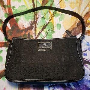 Etienne Aigner Black Canvas Bag EUC